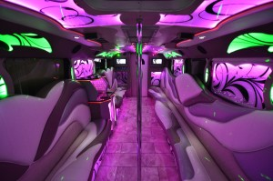 20 party bus interior