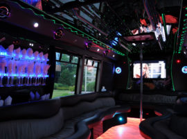 40 passenger party bus interior